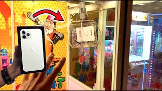 WON Apple iPhone 11 Pro from GIANT CLAW MACHINE ARCADE GAME!