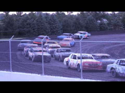 IMCA Hobby Stock Race from Benton County Speedway in Vinton, Iowa on August 7, 2016