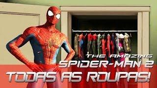The Amazing Spider Man 2 - Todas as Roupas!
