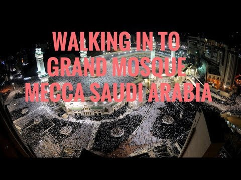 WALKING TO HARAM SHARIF GRAND MOSQUE MAKKAH MECCA SAUDI ARABIA