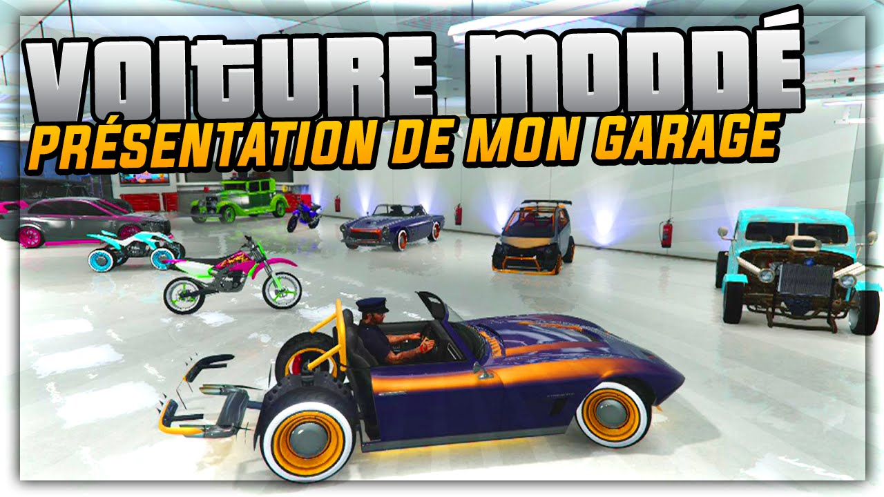 pr sentation de mon garage de voiture modd sur gta 5 online youtube. Black Bedroom Furniture Sets. Home Design Ideas