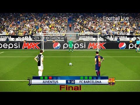 PES 2018 | Juventus FC vs FC Barcelona | Final UEFA Champions League (UCL) | Penalty Shootout