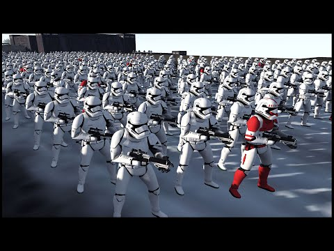 Can The FIRST ORDER ARMY Hold The BRIDGE?! - Men Of War: Star Wars Mod Battle Simulator