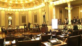 Votación del artículo 24 en el Congreso de Puebla