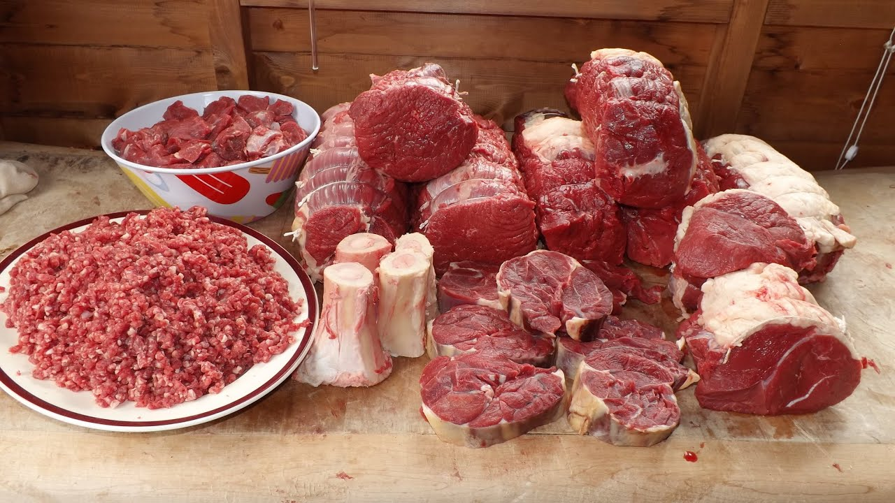 how to butcher a cow a top of beef beef butchery  [ 1280 x 720 Pixel ]