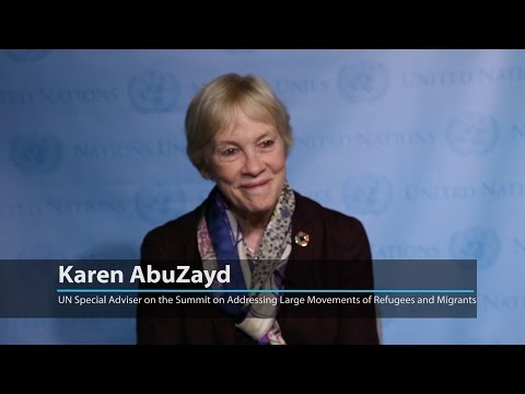 UN special adviser urges more responsibility sharing for refugees and migrants