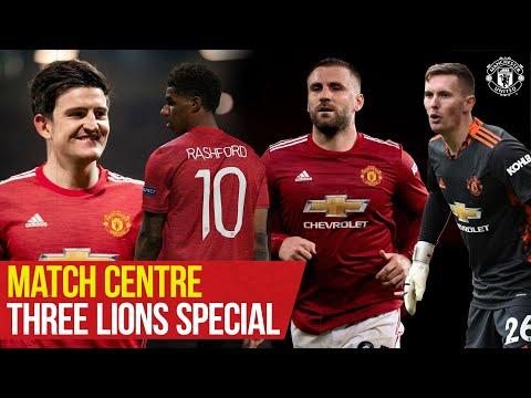 Manchester United | Match Centre: Three Lions | Henderson, Maguire, Rashford, Shaw | England