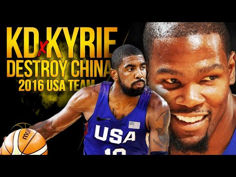 KD, Kyrie, Melo x 2016 USA Team DESTROY China   July 24, 2016   SQUADawkins