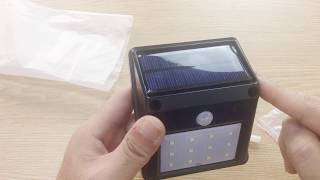 12-LED Solar Powered PIR Motion Sensor Light **hot sale from Tmart.com
