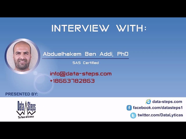 Abduelhakem Ben Addi, PhD, SAS Certified