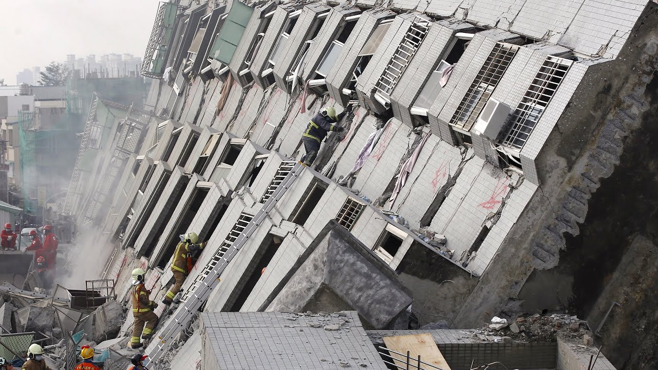 Taiwan Earthquake Collapsed Building Had Tin Cans In