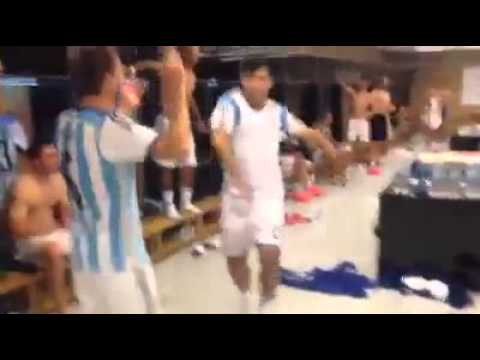 TEAM ARGENTINA INSIDE THEIR LOCKER ROOM AFTER THEIR VICTORY AGAINST BELGIUM!