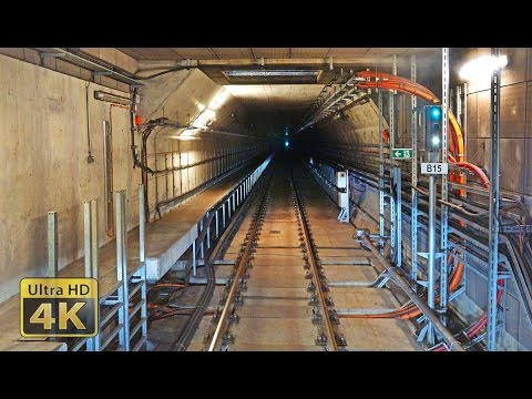 [4K] Cabview Budapest Metro line 4 - Kelenföld - Keleti and Keleti - Kelenföld