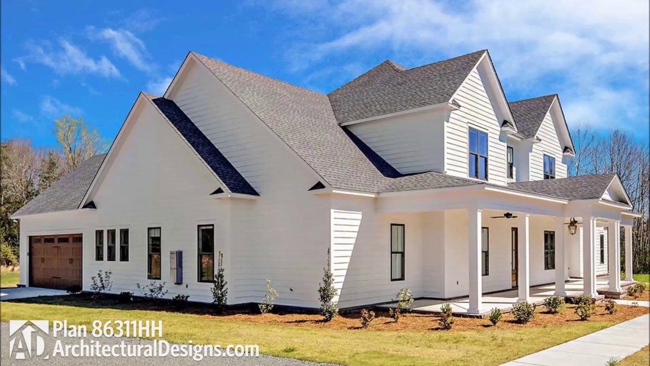 Architectural Designs Plan 86311hh Farmhouse Plan With Upstairs Expansion Space