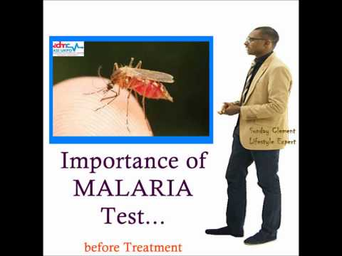 THIS IS WHY YOU MUST DO A MALARIA TEST BEFORE MEDICATING !