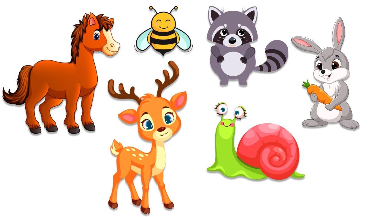 Угадай кто спрятался Животные для детей Развивающие мультики для детей