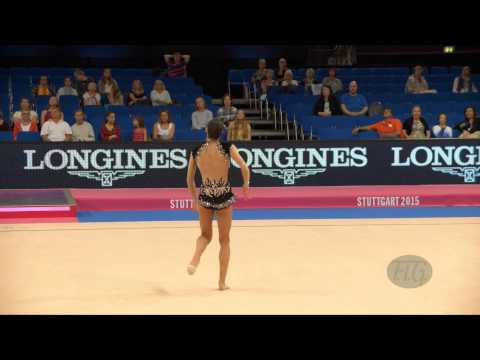 Kyriaki ALEVROGIANNI (GRE) 2015 Rhythmic Worlds Stuttgart - Qualifications Ribbon