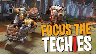 Focus the Techies - DotA 2 Funny Moments