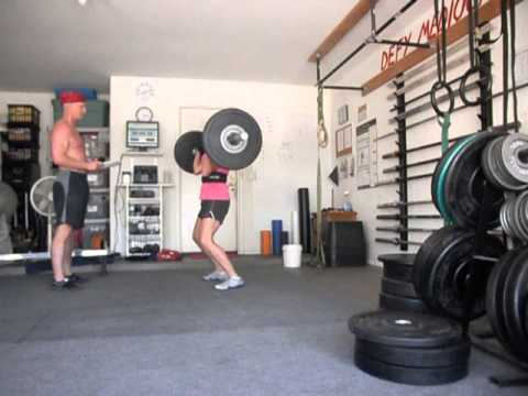 Sally Russell does WOD 13.4