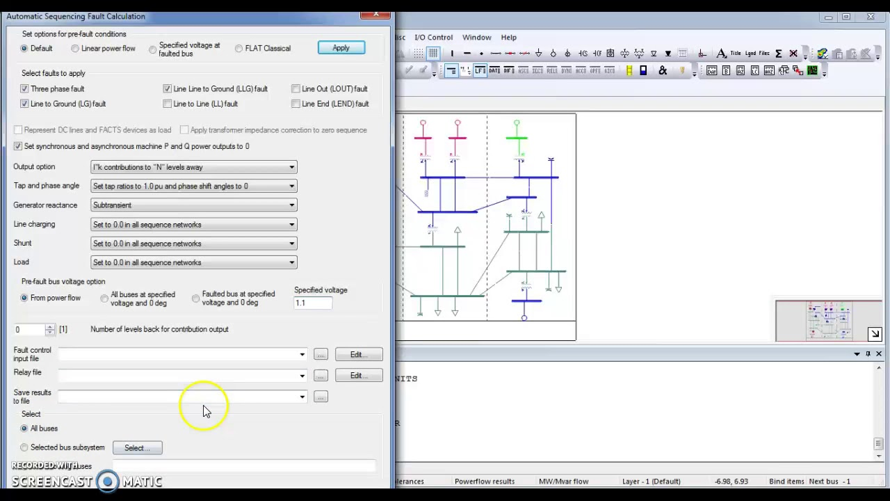 Short Circuit Analysis In Psse Software Youtube Shortcircuit