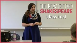 The New Oxford Shakespeare class test