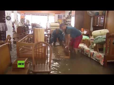 Fuertes lluvias causan inundaciones en el sur de Brasil
