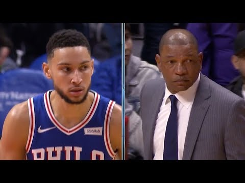 Ben Simmons Trick Inbound Play, Doc Rivers SHOCKED! - 76ers vs Clippers | Januray 1, 2019