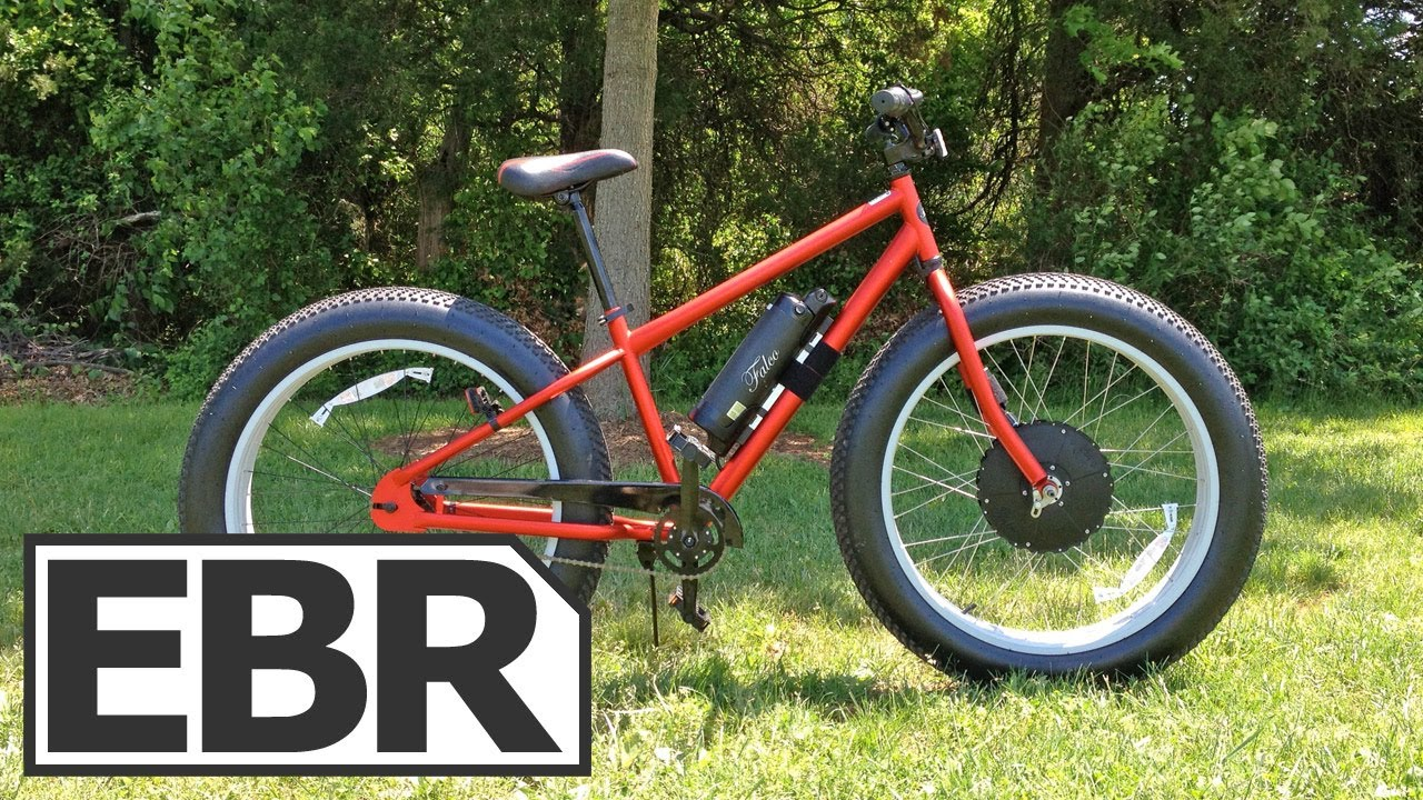 Falco hx 500 fat tire ebike video review off road for Electric bike motor reviews