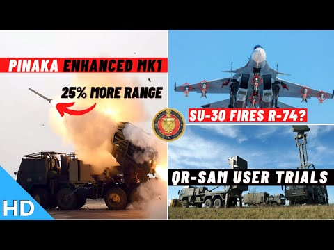 Indian Defence Updates : Su-30 Tests R74,QRSAM User Trial,Enhanced Pinaka Test,GRSE Philippines Deal