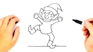 How to draw a Christmas Elf Step by Step | Drawings Tutorials
