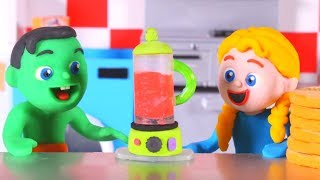 Kids Cooking A Healthy Cake ❤ Cartoons For Kids