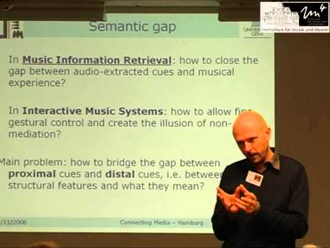 Marc Leman - Embodied music cognition (Connecting Media conference, Hamburg 2006)