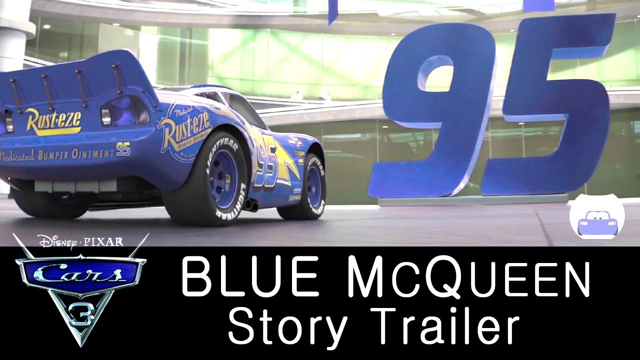 cars  trailer blue lightning mcqueen tale cars