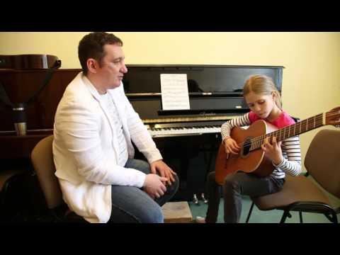 Открытый урок по гитаре в музыкальной школе видео
