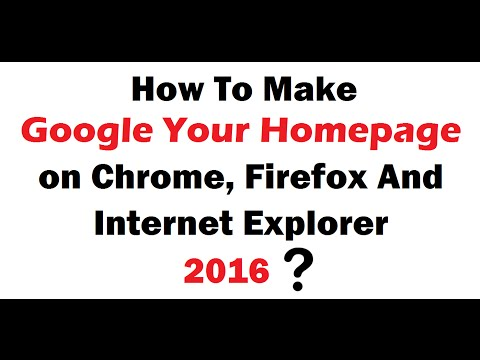 how to set google as my homepage on google chrome
