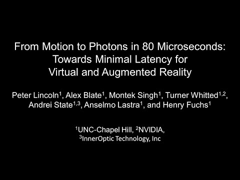 From Motion to Photons in 80 Microseconds: Towards Minimal Latency for Virtual and Augmented Reality