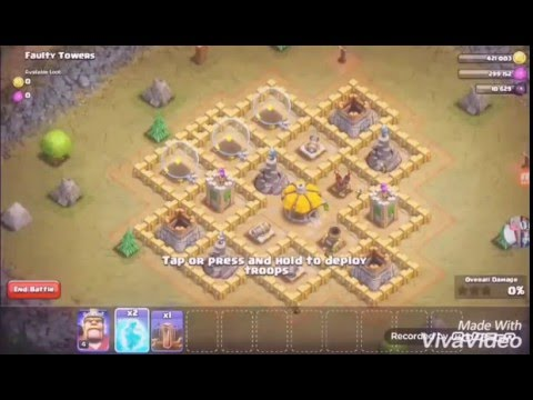 Freezing spell effect + earthquake (Clash of Clans)