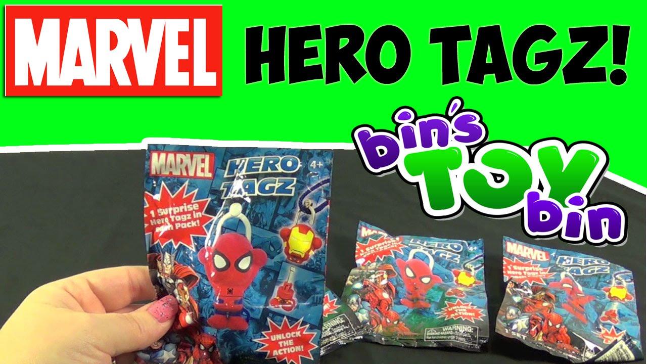 Marvel Hero Tagz Blind Bags Surprise Opening By Bin S Toy