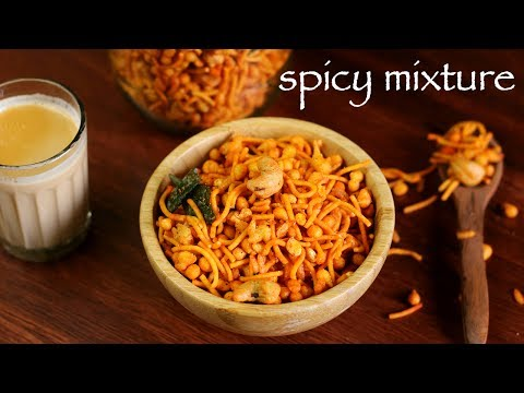 Mixture Recipe - South Indian Mixture Recipe - How To Make Spicy Kerala Mixture