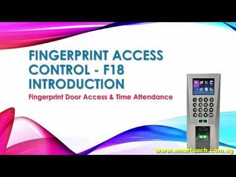 Biometric Fingerprint Access Control Singapore : F18 Introduction and Demo