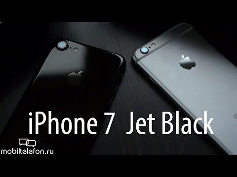 Распаковка IPhone 7 Jet Black, сравнение с IPhone 6S и проверка на шум (unboxing)