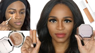 NEW FENTY BEAUTY CONCEALER & SETTING POWDER REVIEW, & WEAR TEST - BEAUTYFRENZYBLOG