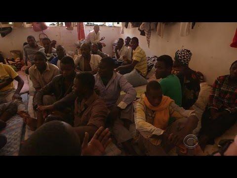 Desperation in Libyan prison for captured migrants