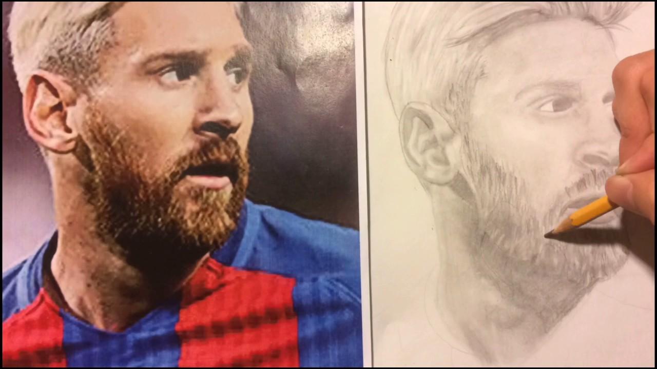 Dibujo de Messi  YouTube