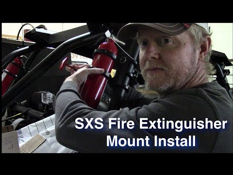 SXS Fire Extinguisher Mount Install