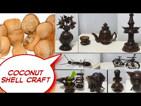 coconut shell products by nihara crafts - 2020, links in the description