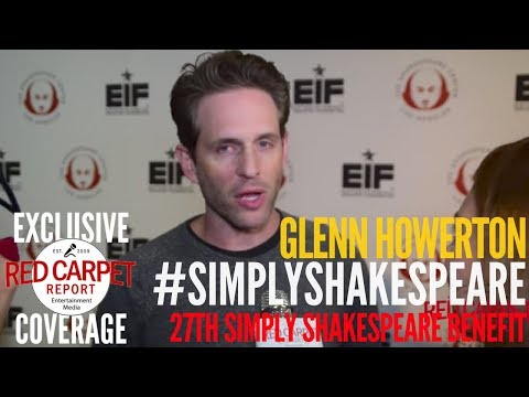 Glenn Howerton interviewed at 27th Annual Simply Shakespeare benefit at UCLA #SimplyShakespeare