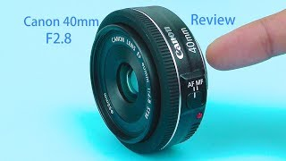 Canon 40mm EF f/2.8 STM Lens Review | with Video Test and Pictures(This is video: Canon 40mm EF f2.8 STM Lens review. Link to the Canon 40mm f2.8 Pancake lens on Amazon: http://amzn.to/1egOrix A less expensive ..., 2014-04-09T00:49:11.000Z)
