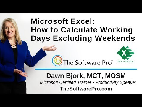 Microsoft Excel How to Calculate Dates Excluding Weekends and Holidays thumbnail