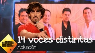 Nacho Lozano canta 'Mi gran noche' con 14 voces diferentes - El Hormiguero 3.0